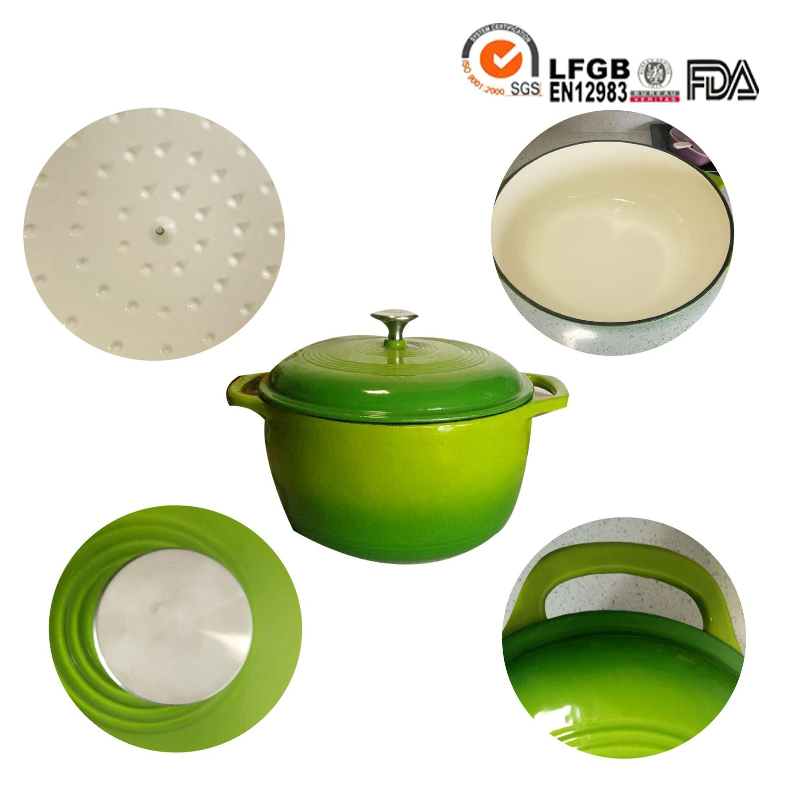 cast iron round pot
