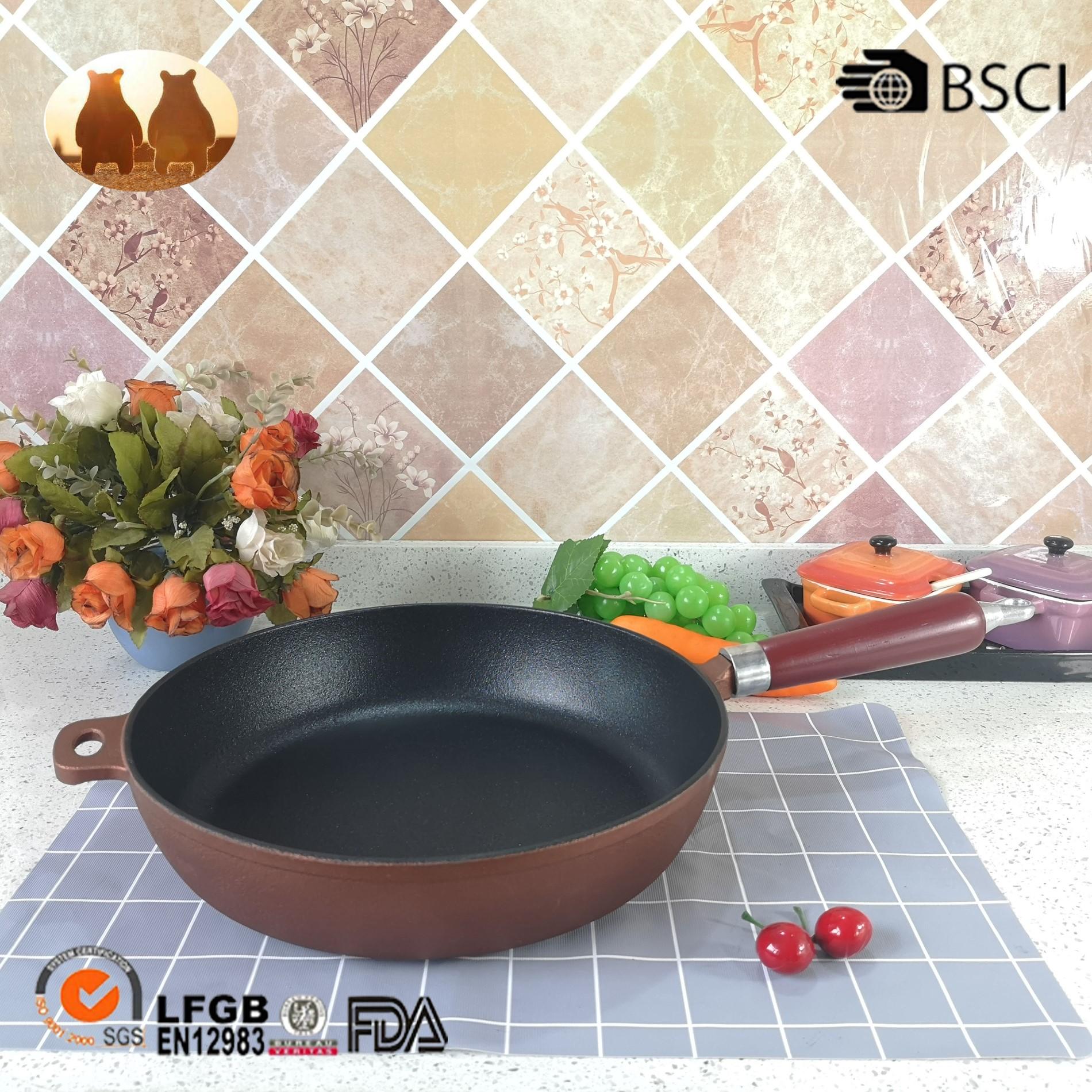 cast iron non-stick fry pan