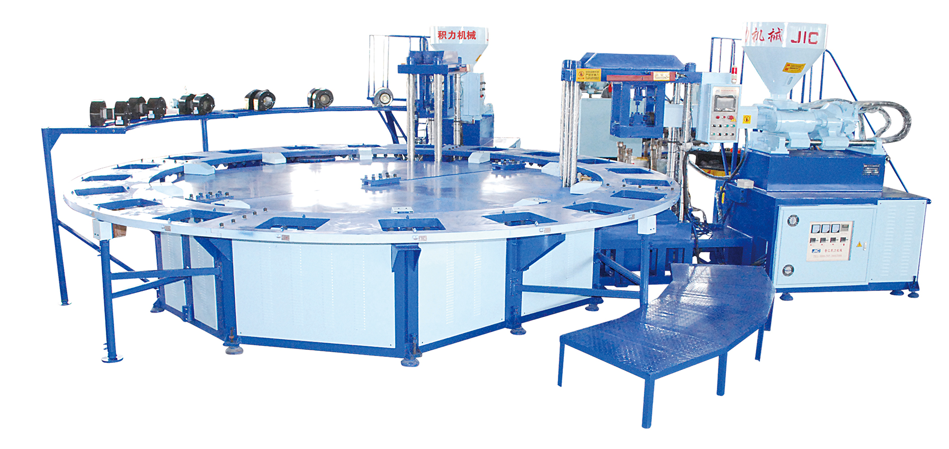 two color air blowing machine