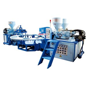 80T three color upper injection machine