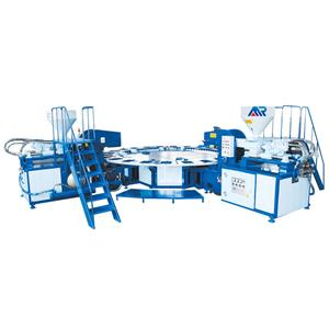 PVC two color air blowing machine