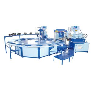 Two color air blowing injection machine