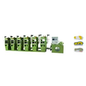 Rubber sole forming machine