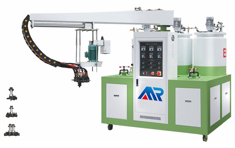 Two-color foam molding machine