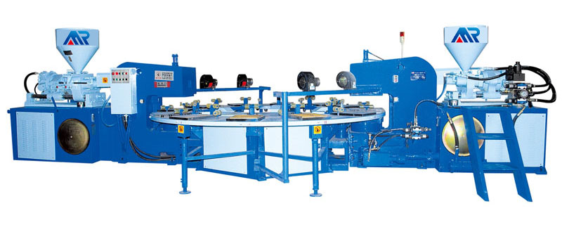 Three-color injection molding machine