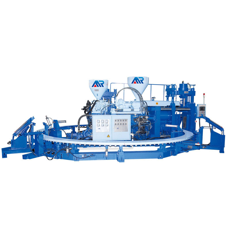 Two color PVC boot injection machine