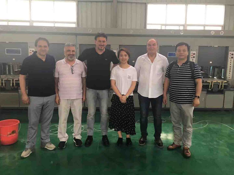 Turkish customer come to visit the company