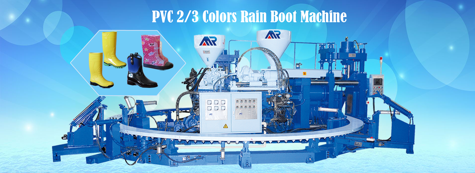 MR-614A Two Color PVC Boot Injection Machine
