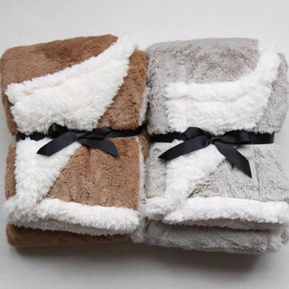 Coral Fleece Solid Blanket