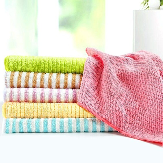 Assorted Color Microfiber Dish Towels
