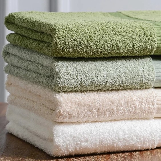 Toalhas de banho Dobby de algodão Terry sólido