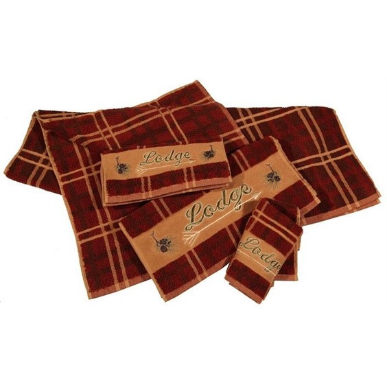 Cotton Embroidered Bath Towels