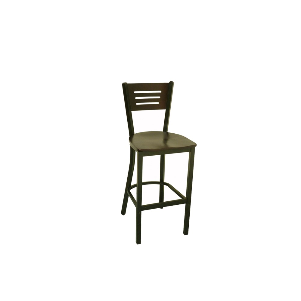 Coffee Metal Bar Chair