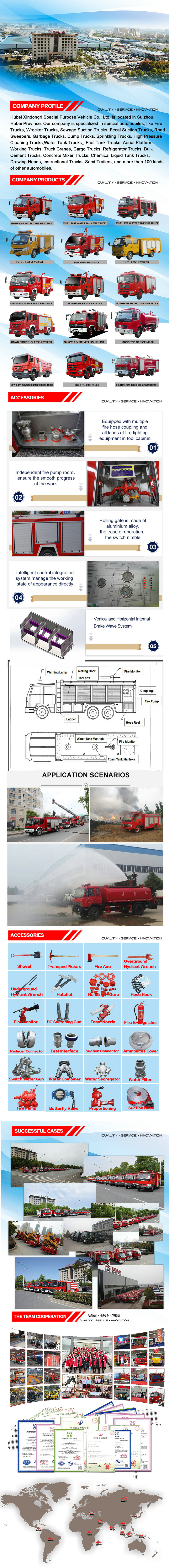 5Tons water tank fire vehicle