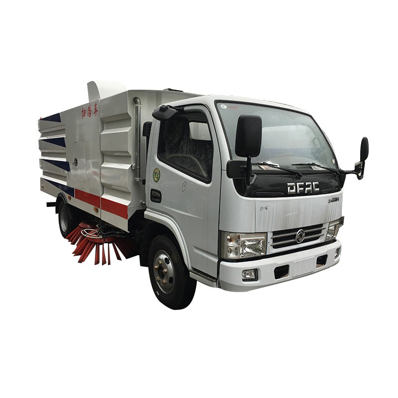 Waterless Dust Control Vacuum Street Sweeper Truck