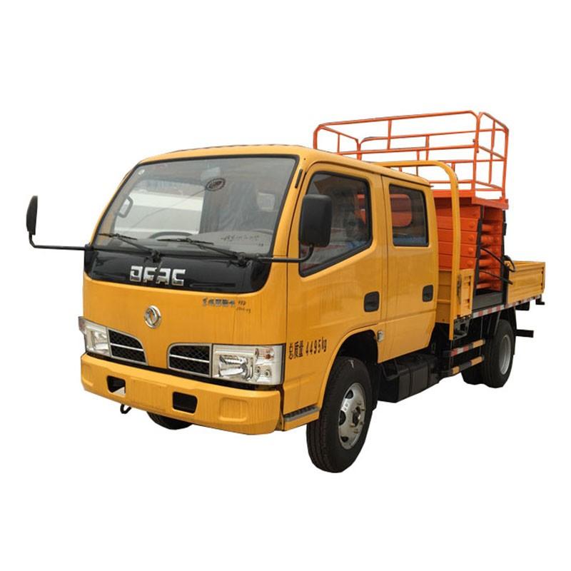 Elevador de tijera montado en camión