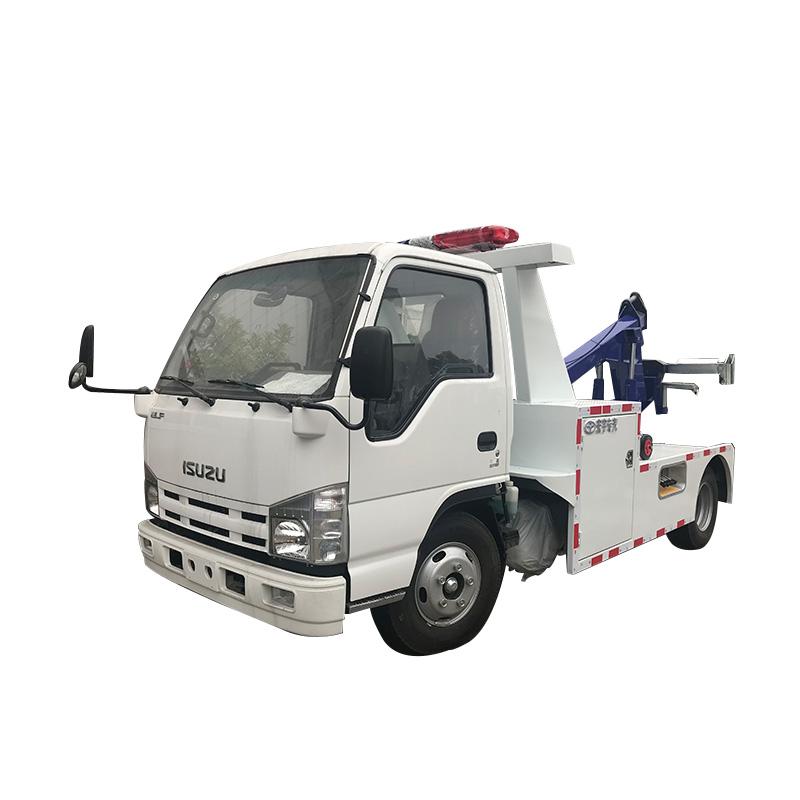 Tow Truck With Crane Wrecker Truck