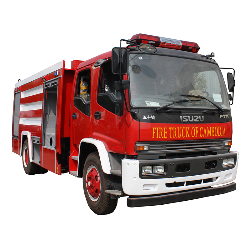 LHD only 5000 liters water tender fire truck
