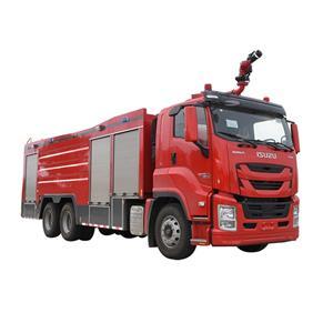 Camión de bomberos combinado de polvo de espuma de agua ISUZU 6X4 12000L