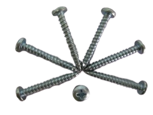 Pan Head Cross Recessed White Zinc Tapping Screw