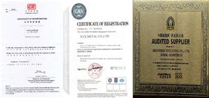 Business license and certification