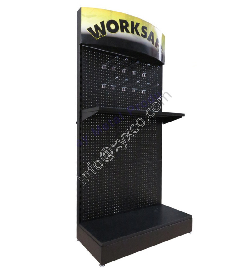 pegboard display stand