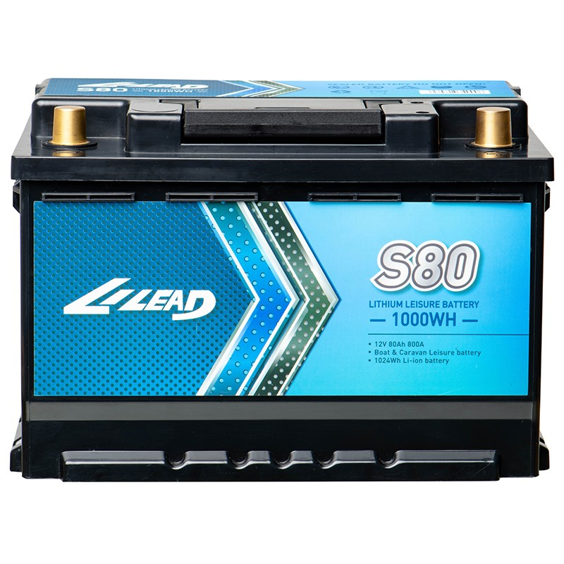 12V 80Ah Lithium Leisure Battery for trolling motor, RV, Motorhome