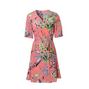 Short Sleeve Silk Dress