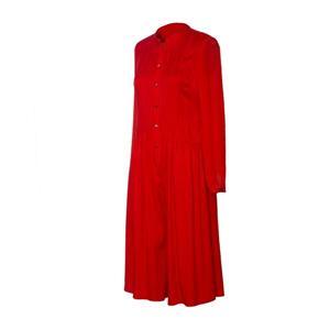 Jacquard Long Sleeve Silk Dress