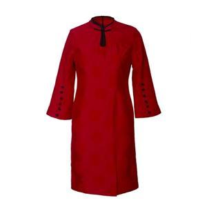 Jacquard Short Sleeve Silk Dress