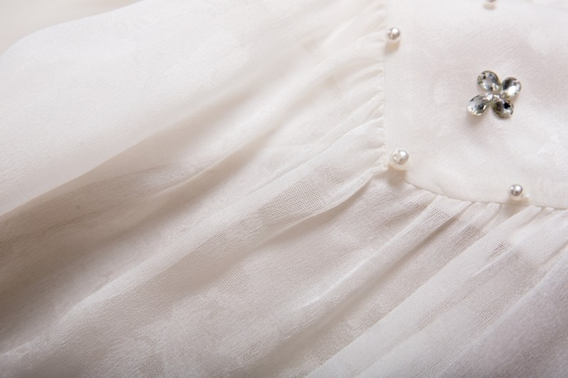 White Jacquard Sleeveless Silk Dress Manufacturers, White Jacquard Sleeveless Silk Dress Factory, Supply White Jacquard Sleeveless Silk Dress