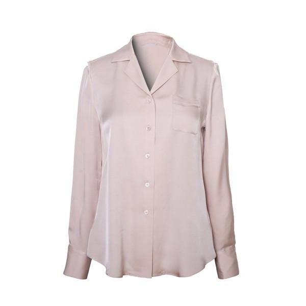 Langærmet silke shirt