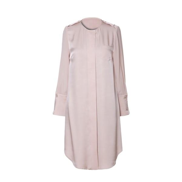 Pink Long Sleeve Silk Shirt