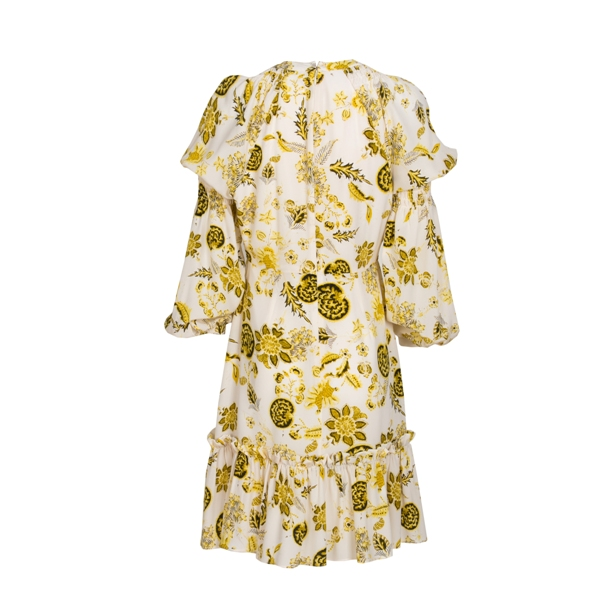 Yellow Printing Silk Dress Manufacturers, Yellow Printing Silk Dress Factory, Supply Yellow Printing Silk Dress