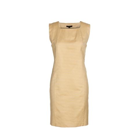 Yellow Jacquard Silk Dress