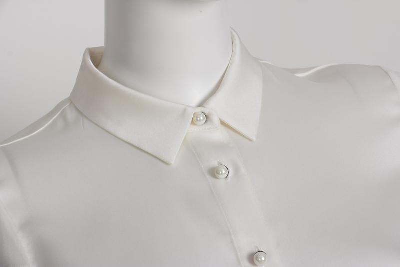 White Silk Shirt Manufacturers, White Silk Shirt Factory, Supply White Silk Shirt
