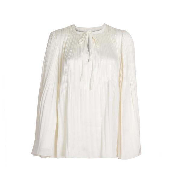 White Long Sleeve Polyester Shirt