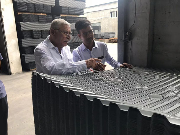 Crossflow cooling tower fill