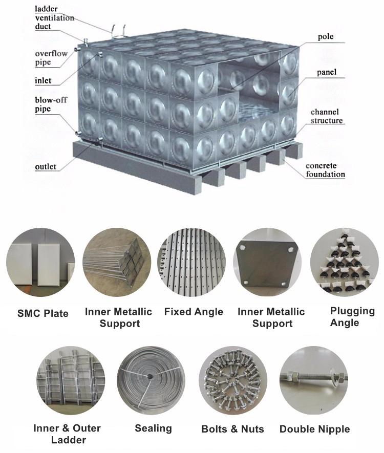 Réservoir d'eau en acier inoxydable
