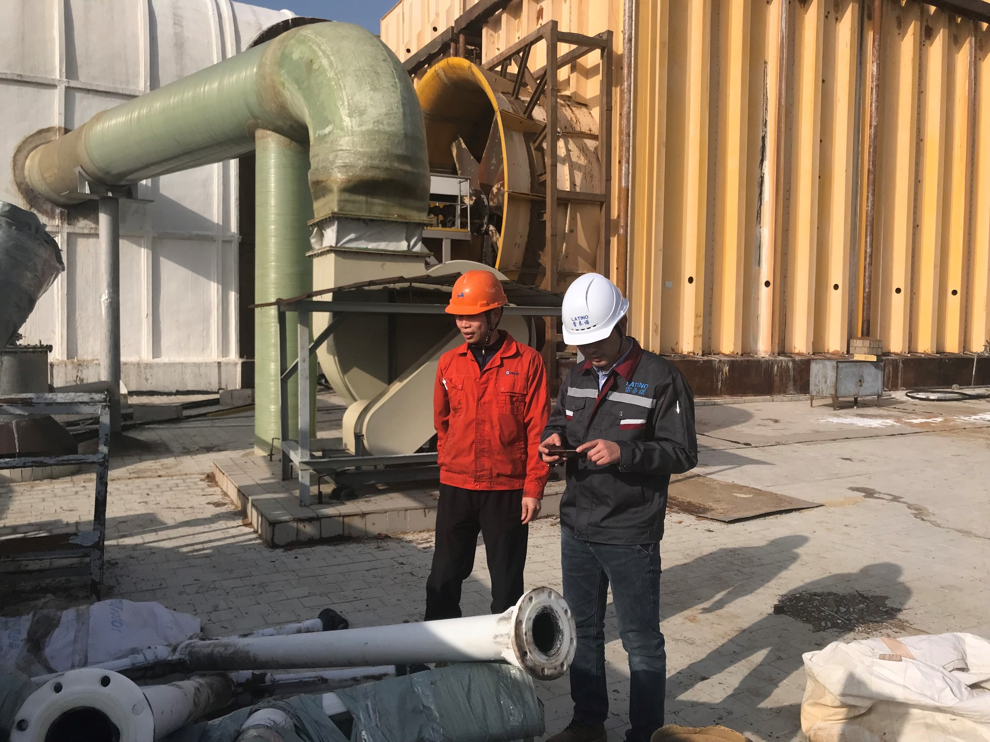 Electrolyte cooling tower maintenance project
