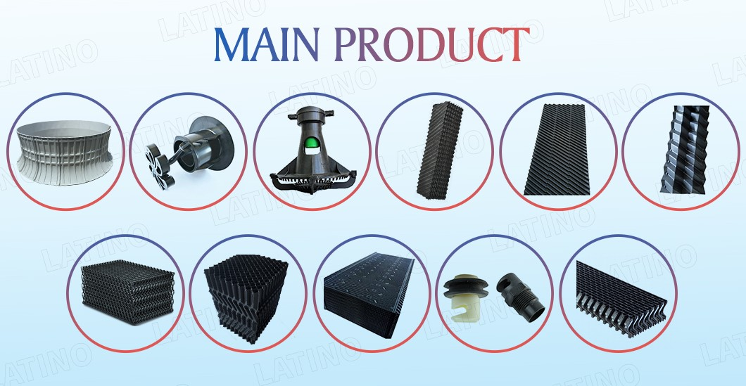 Crossflow cooling tower spray Nozzle