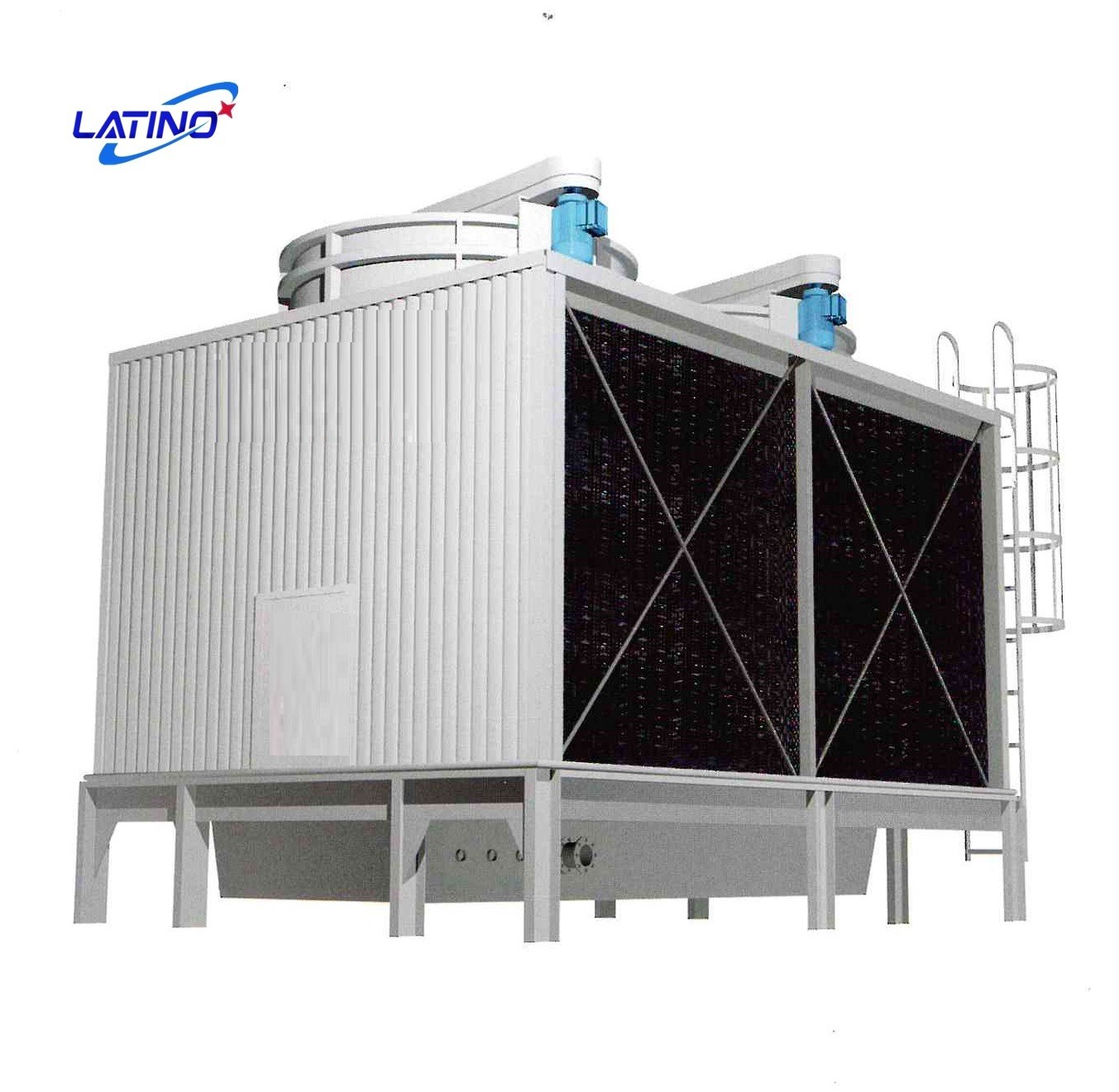 How to install the cooling towers in a commercial building