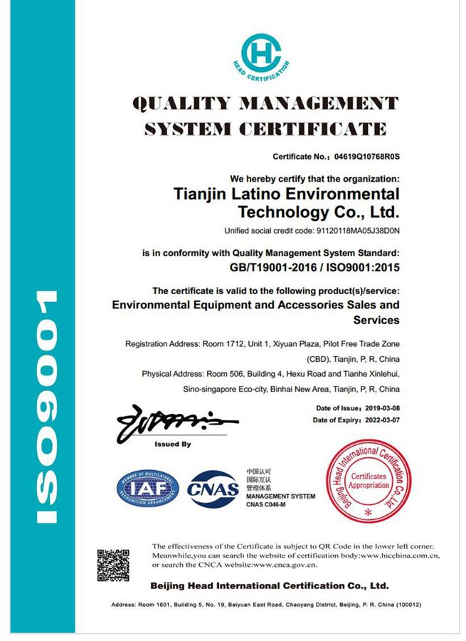 Organisasi Internasional untuk Standardisasi Sertifikat 9001 Kualitas sertifikat sistem manajemen