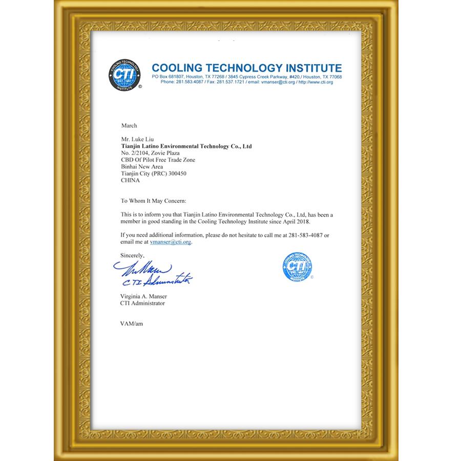 15 Años Aprobado por CTI de miembro, uno de los miembros del CTI