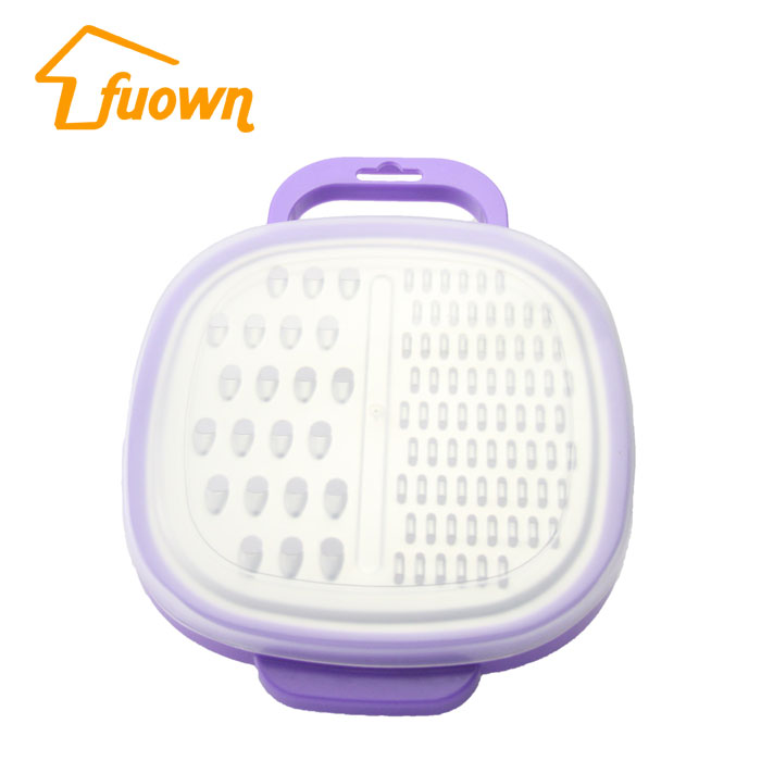 FUOWN Best Sale Stainless Steel Multifunction Graters With PP Container