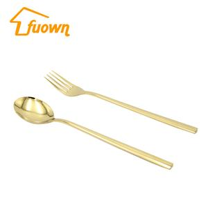 Stainless Steel Cutlery Fork Knife Spoon Flatware Set With Titanium Plated