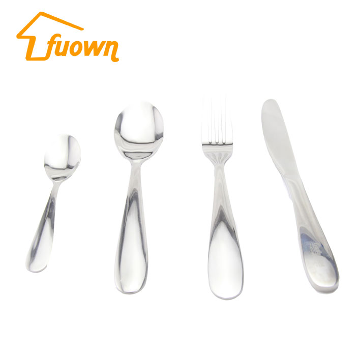 Stainless Steel Dinnerware Hot Sell Tableware New Design Popular Silver 4pcs Flatware Set