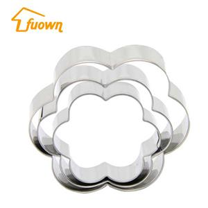 3 PCS Stainless Steel Cookie Cutter Set Flower Shaped Cake Cutter Mould