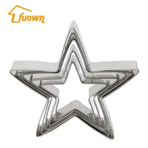 5 Pieces Big Size Stainless Steel Star Pastry Cutter Set