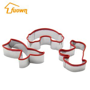 3 PCS Customized Cookie Cutter With Silicone Edge